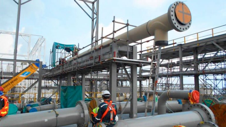 Petronas LNG Train 9 Project Gas Metering Station Piping
